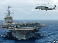 USS John C Stennis deployed to the Persian Gulf