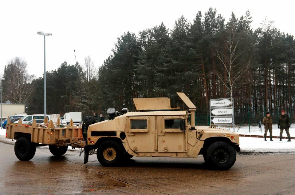Vehicles and troops are being deployed to Poland