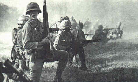 US troops fight North Vietnamese in 1965