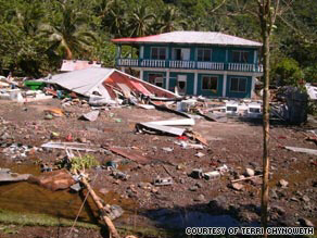 Villages and towns in American Somoa, Western Somoa, and Tonga have been badly damaged or completely destroyed