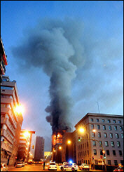 Windsor building burns 2-12-05