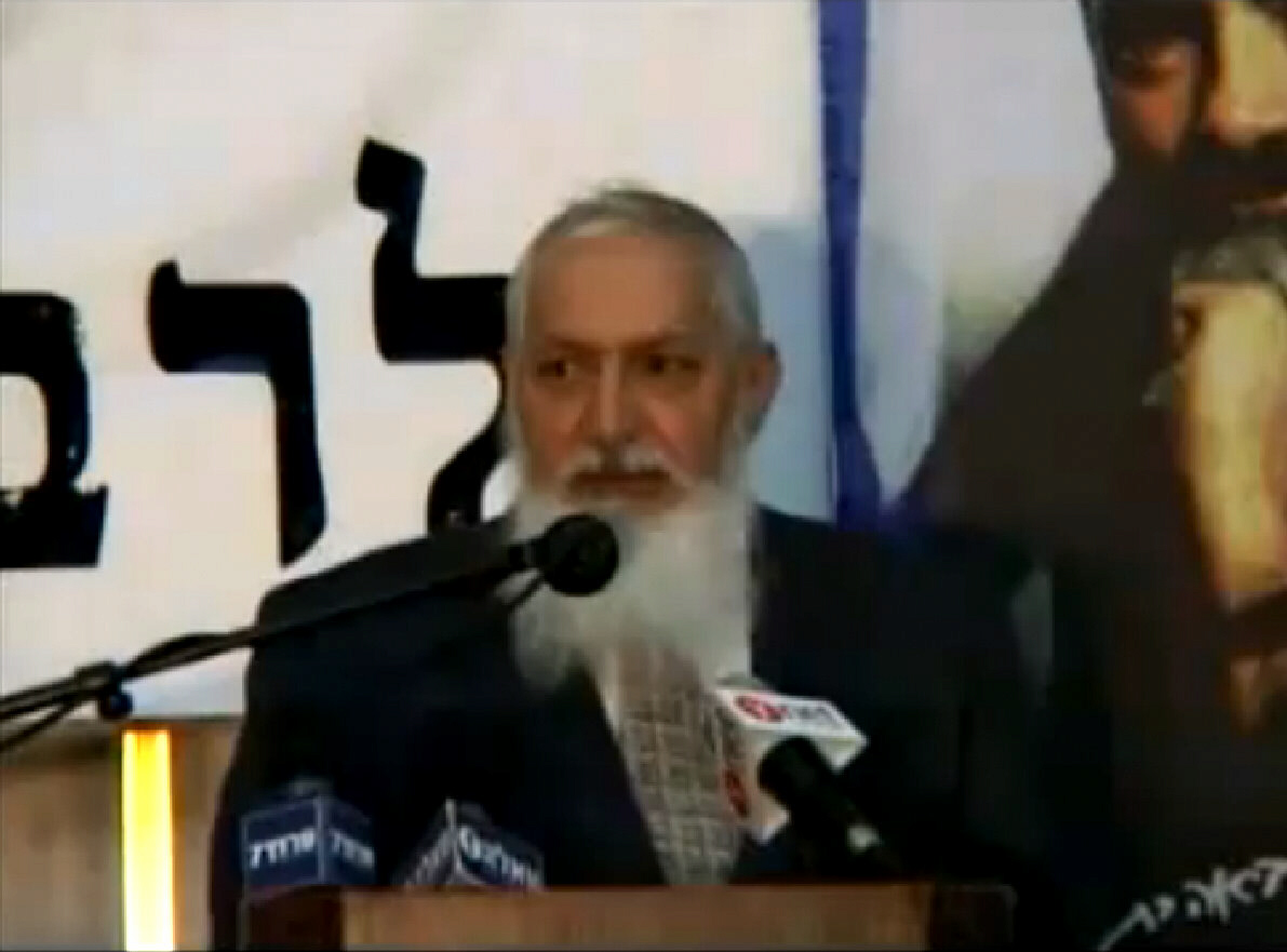 Rabbi Yosef Dayan from televised speech