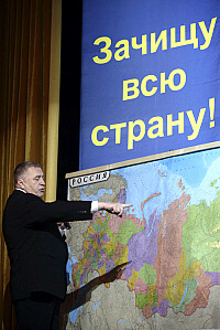Zhirinovsky says he'll clean the whole country