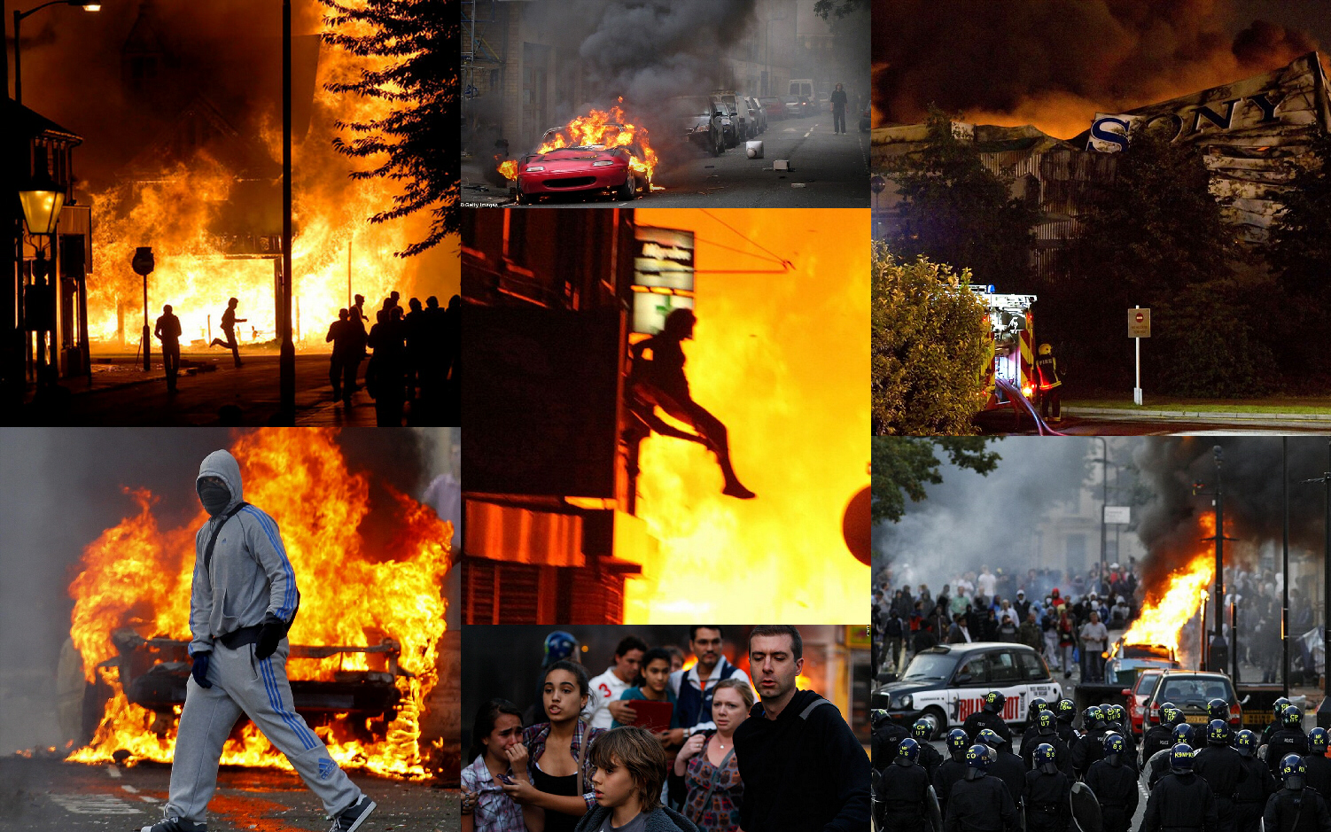 London riots, August 8 and 9
