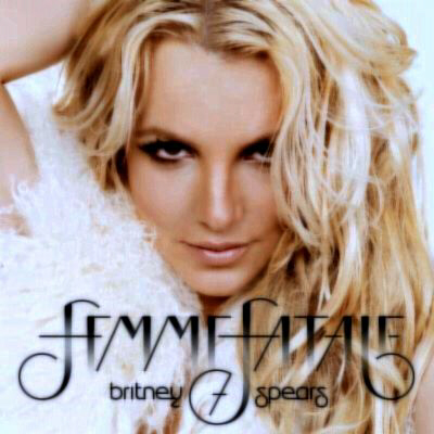 Britney Spears on Femme Fatale cover