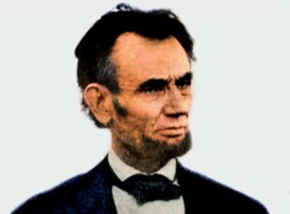 Last known photo of President Abraham Lincoln, colorised